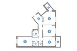 ЖК Family & Friends: планировка 3-комнатной квартиры 87 м²