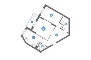 ЖК Family & Friends: планування 2-кімнатної квартири 67.67 м²