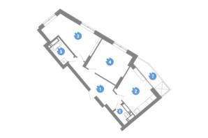 ЖК Family & Friends: планування 2-кімнатної квартири 64.7 м²
