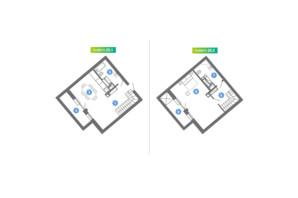 ЖК Family & Friends: планування 1-кімнатної квартири 71.05 м²