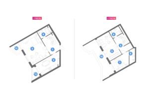 ЖК Family & Friends: планування 3-кімнатної квартири 121.49 м²
