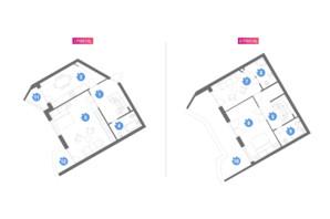 ЖК Family & Friends: планування 3-кімнатної квартири 123.28 м²