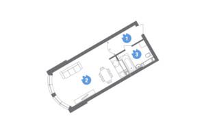 ЖК Family & Friends: планування 1-кімнатної квартири 37.64 м²