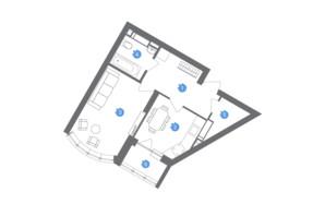 ЖК Family & Friends: планування 1-кімнатної квартири 40.65 м²
