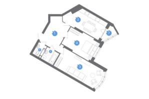 ЖК Family & Friends: планування 2-кімнатної квартири 70.17 м²