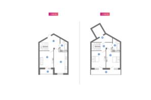 ЖК Family & Friends: планування 2-кімнатної квартири 106.54 м²