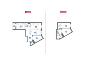 ЖК Family & Friends: планування 2-кімнатної квартири 115.33 м²