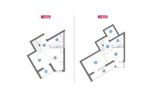 ЖК Family & Friends: планування 2-кімнатної квартири 84.38 м²