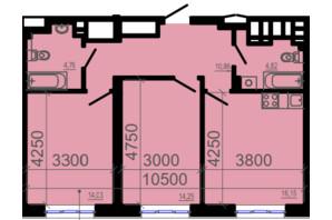 ЖК Фаворит: планування 2-кімнатної квартири 67.43 м²