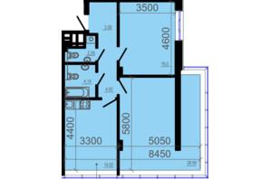 ЖК Фаворит: планування 2-кімнатної квартири 81.48 м²