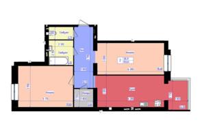 ЖК Форрест: планировка 2-комнатной квартиры 85.8 м²