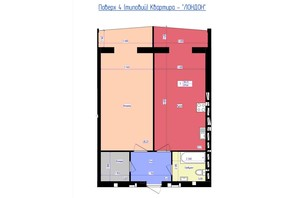 ЖК Форрест: планировка 1-комнатной квартиры 70.5 м²