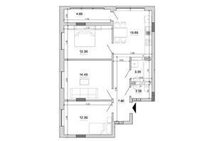 ЖК Forward (Форвард): планировка 3-комнатной квартиры 70.65 м²