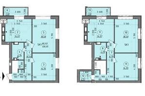 ЖК Французский Бульвар: планировка 5-комнатной квартиры 128 м²