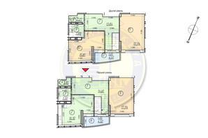 ЖК Freedom: планировка 3-комнатной квартиры 110.25 м²