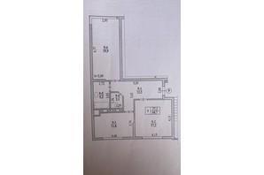 ЖК Garant City: планування 2-кімнатної квартири 69.6 м²
