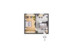 ЖК Garant City: планування 1-кімнатної квартири 49.7 м²