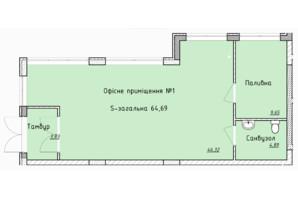 ЖК Globus Elite: планировка помощения 63.2 м²