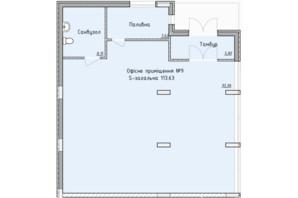 ЖК Globus Elite: планировка помощения 112 м²