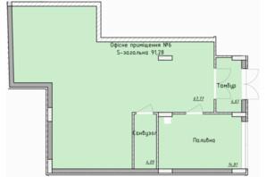 ЖК Globus Elite: планировка помощения 83 м²