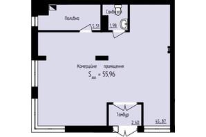 ЖК Globus Park: планировка помощения 55.96 м²