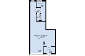 ЖК Globus Premium: планування приміщення 71.08 м²