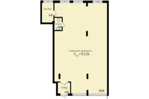 ЖК Globus Premium: планування приміщення 123.56 м²