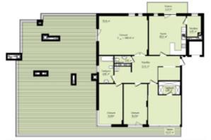 ЖК Globus Premium: планування 4-кімнатної квартири 208.4 м²