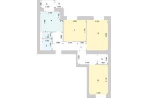 ЖК Голосіївська Долина: планування 3-кімнатної квартири 96.58 м²