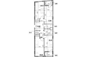 ЖК Голоські кручі: планировка 3-комнатной квартиры 106.81 м²