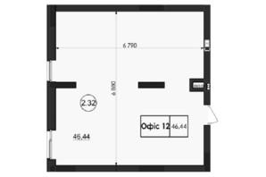 ЖК Горганы: планировка помощения 46.44 м²