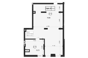 ЖК Горганы: планировка помощения 85.62 м²
