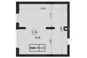 ЖК Горганы: планировка помощения 46.82 м²