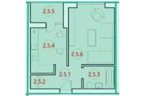 ЖК Горизонт: планировка 1-комнатной квартиры 34.1 м²
