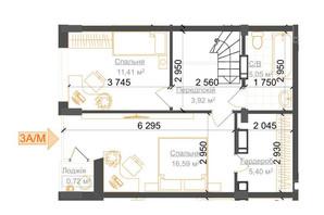 ЖК Гостомель Residence: планування 2-кімнатної квартири 77.35 м²
