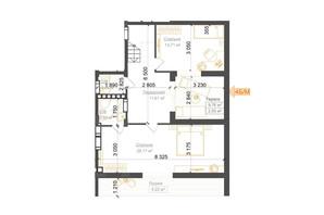 ЖК Гостомель Residence: планування 4-кімнатної квартири 137.19 м²
