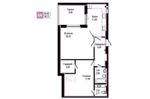 ЖК Гостомель Residence: планування 2-кімнатної квартири 69.46 м²