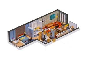 ЖК Гостомель Residence: планування 2-кімнатної квартири 64.37 м²
