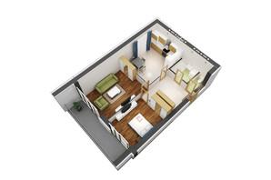 ЖК Гостомель Residence: планування 2-кімнатної квартири 69 м²