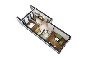 ЖК Гостомель Residence: планування 2-кімнатної квартири 68.1 м²
