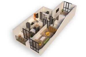 ЖК Гостомель Residence: планування 2-кімнатної квартири 67.95 м²