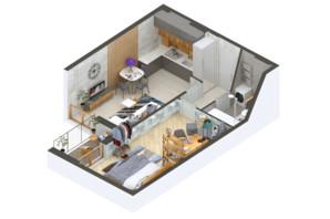 ЖК Гостомель Residence: планування 1-кімнатної квартири 48.98 м²