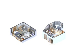 ЖК Гостомель Residence: планування 2-кімнатної квартири 69.83 м²