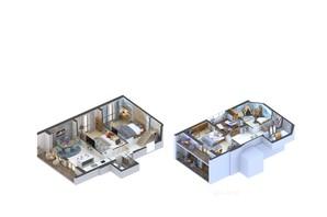 ЖК Гостомель Residence: планування 3-кімнатної квартири 123.96 м²