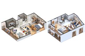 ЖК Гостомель Residence: планировка 3-комнатной квартиры 137.19 м²