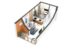 ЖК Гостомель Residence: планировка 1-комнатной квартиры 21 м²