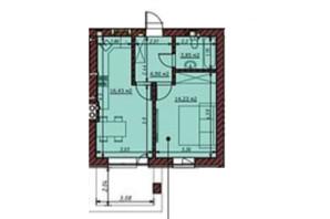 ЖК Гостомельські Липки 5: планування 1-кімнатної квартири 39.4 м²