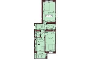 ЖК Гостомельские Липки 5: планировка 2-комнатной квартиры 67.9 м²