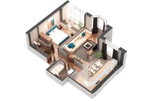 ЖК Гранд Бурже: планировка 2-комнатной квартиры 59.01 м²