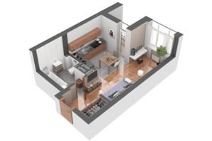 ЖК Гранд Бурже: планування 1-кімнатної квартири 29.84 м²